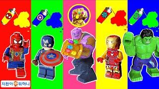 타노스의 핑거스냅으로 어벤져스 색깔이 사라졌어요 The color of the Avengers disappeared with the finger snap of Thanos