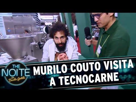 Murilo Couto visita o evento 'TecnoCarne'   The Noite (25/08/17)