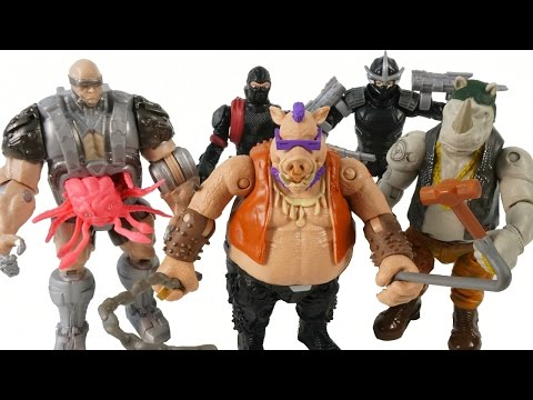 TEENAGE MUTANT NINJA TURTLES MOVIE BAD GUYS SHREDDER BEBOP ROCKSTEADY KRAANG ACTION TOYS