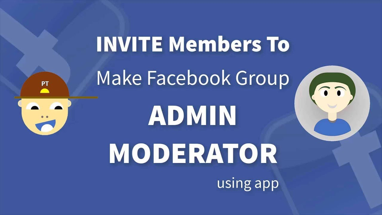 Admin Or how to invite fb group members to make admin or moderator using app |  facebook tutorials | pointech