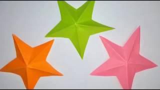 Пятиконечная звезда из бумаги, оригами, просто и красиво, видео-урок