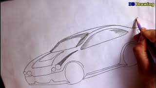 How to draw a sport car step by stepts. Easy