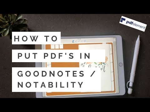 How to Import PDFs into GoodNotes and Notability | PDFelement Express