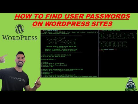 how to hack wordpress admin password using wpscan - How to scan WordPress for Vulnerabilities with WPScan Video Part 2 | Tutorial 2021 with InfoSec Pat