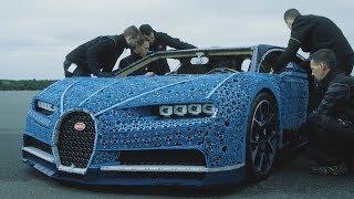 Asombroso Bugatti hecho de LEGO | TAMAÑO REAL Y CONDUCIBLE!