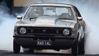RAD14L DANDY ENGINES OUTLAW RADIAL CORTINA 8.14 @ 159 MPH SYDNEY DRAGWAY 30.8.2015