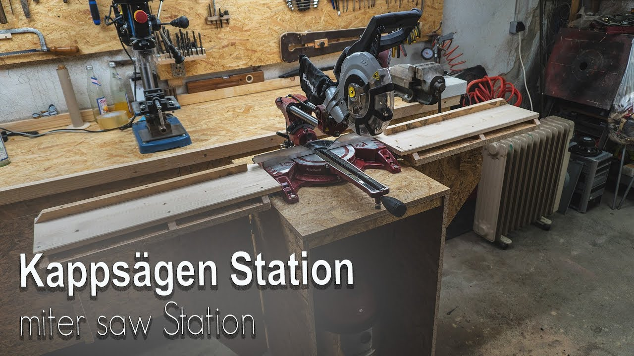 kappsägen station selber bauen [ miter saw station ] - youtube