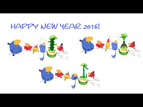 new year 2016 happy new year 2016 google doodle youtube