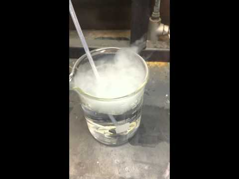 HCl Forms During Melting Of MgCl2 In Flowing Argon