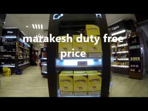 MARRAKECH AIRPORT + DUTY FREE
