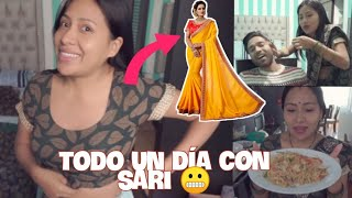12 Horas USANDO SARI + depile a mi esposo Hindú/Indio con CERA CALIENTE 🤣