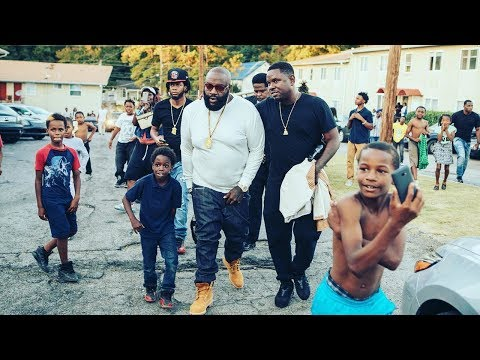 Rick Ross Drops By His Old Neighborhood To Take Care Of Business ''The Boss Is Back In Town''