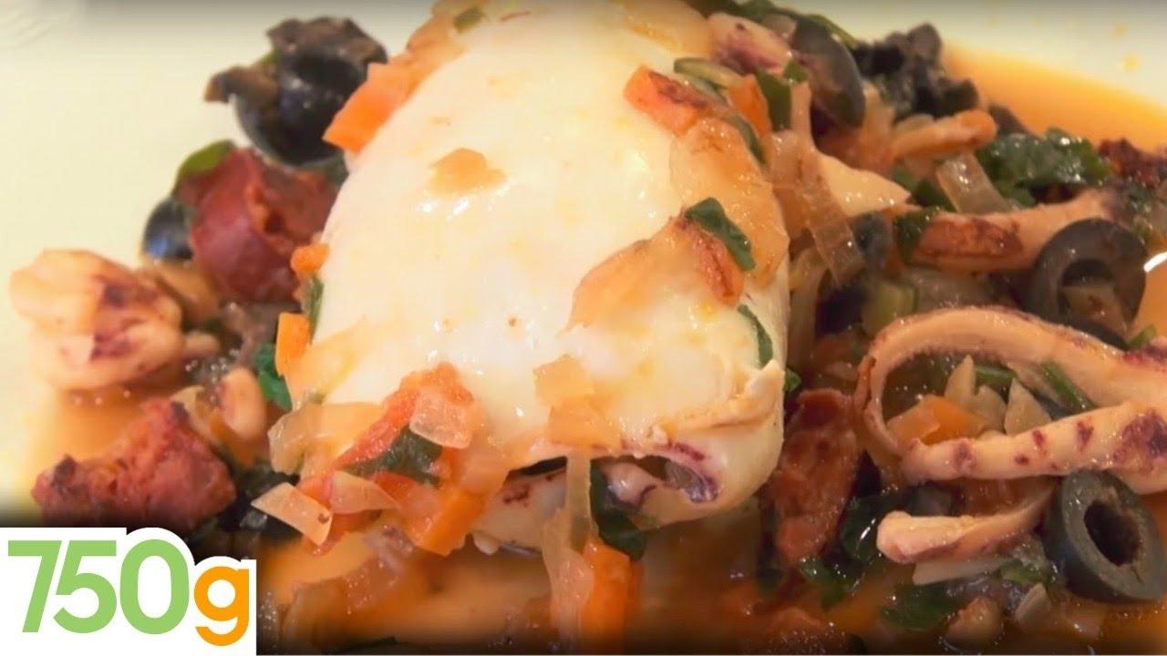 recette de calamars farcis ou lulas recheadas - 750 grammes - youtube