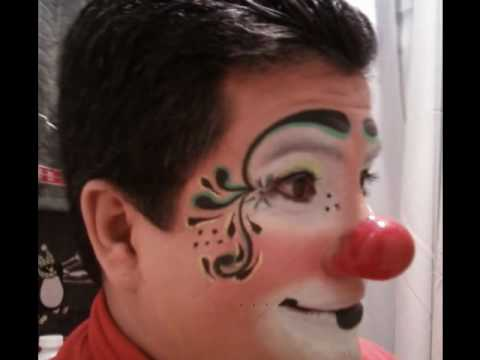 maquillaje profesional de payaso