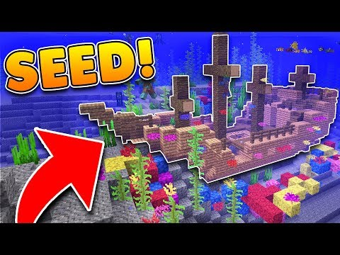 SHIPWRECK AT SPAWN SEED In Minecraft! (Pocket Edition, Xbox, PC)