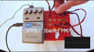 Circuit bended pedal Ibanez PM7 by VTOL became DIY drone modular synth