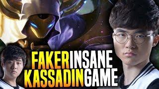 Faker Plays Kassadin in a Hard Carry ft Bang! - SKT T1 Faker Playing Kassadin Mid!   SKT T1 Replays