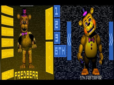 five nights at fredbear s family diner 1 and 2 extras youtube