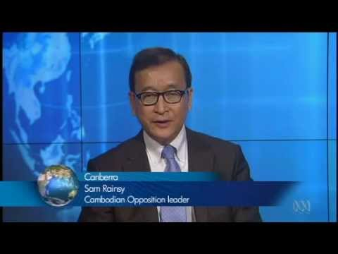 Sam rainsy interview about finding support from foreing country for fair election