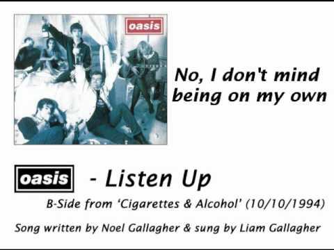Oasis - Listen Up [HQ Audio + Lyrics]