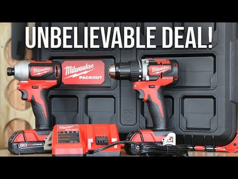 Milwaukee Tool M18 Compact Brushless Combo Kit With Packout Storage Box!