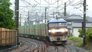 2018/05/09 JR貨物 54列車 パンタグラフから白色閃光3回