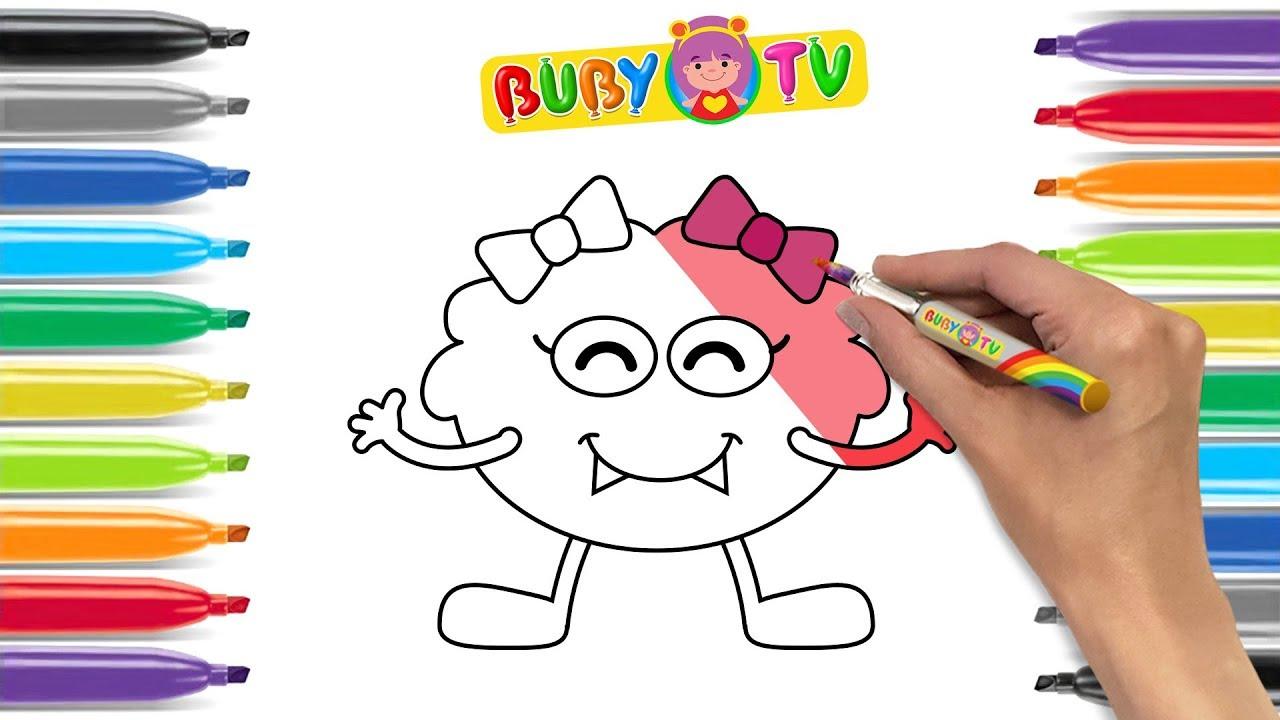 Impara a disegnare un mostriciattolo disegni facili per for Disegni facili per bambini