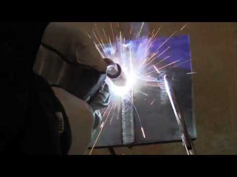 MIG Welding 3g Vertical Open Root Plate Test