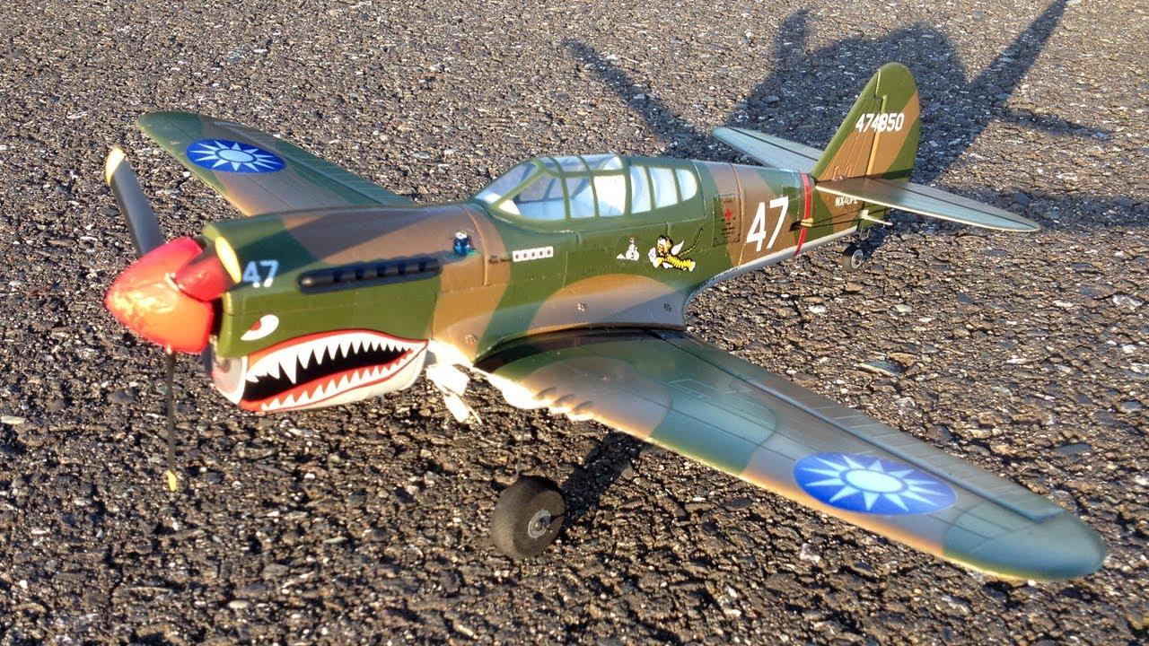 Parkzone Ultra Micro P-40 Warhawk BNF WWII Warbird RC Plane Crash - AS3X  Technology