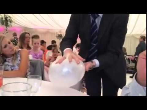 Robert Bone Wedding Magician Phone in Balloon Magic Trick