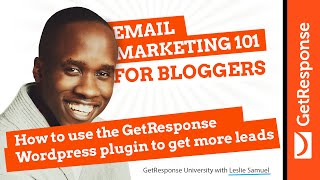 How to use the GetResponse WordPress plugin to get more leads | Email Marketing 101 for Bloggers