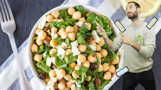 Amazing Chickpea Spinach Salad | Hurry The Food Up