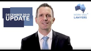 Australian Immigration News Video December 2019 - New 491 & 494 visas, end of year rush & more!
