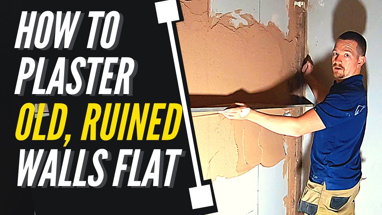 TRADE SECRETS/ How To Plaster OLD UNEVEN Walls (FLAT & PLUMB)