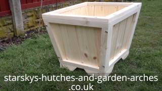 Wooden Planter Decking Patio Garden (barbados)