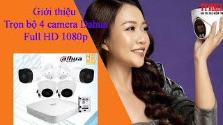 Trọn bộ 4 camera giám sát dahua chính hãng giá rẻ - Bảo hành 2 năm trên toàn quốc