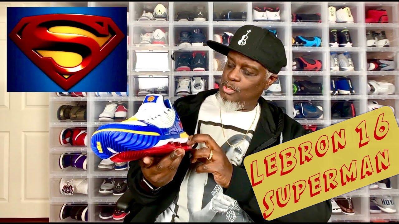 ce3095b89df8 Lebron 16 Superman - YouTube