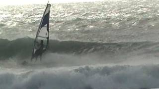 Windsurf Wave in Marsala (Sicily). Cicciteddu in action