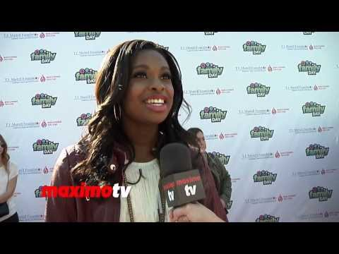 "Coco Jones INTERVIEW at T.J. Martell's 5th Annual ""Family Day LA"" Red Carpet - Actress / Singer"