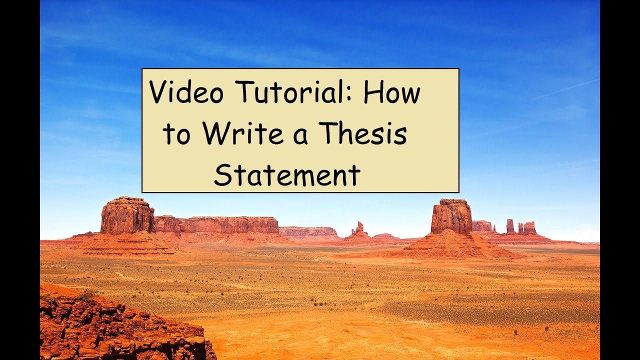 how to write thesis statement youtube