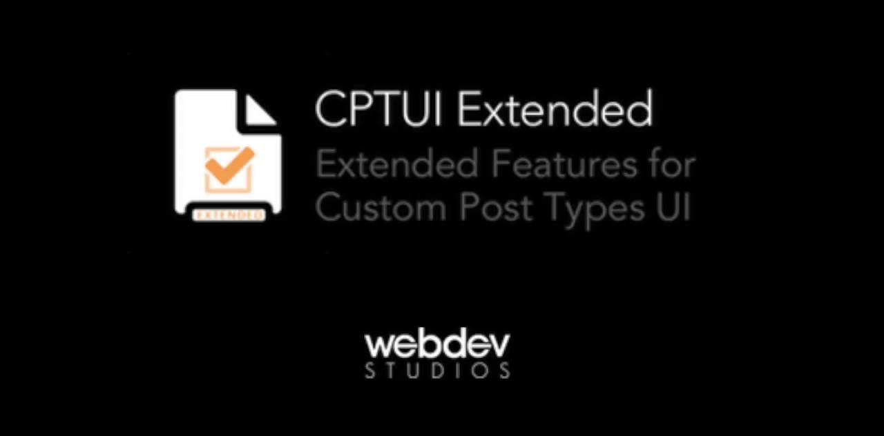 Custom Post Type UI Extended