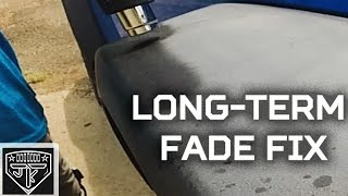 How to restore faded bumpers and fenders with heat gun