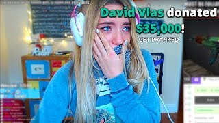 Pretending To Donate $35,000 To Attractive Twitch Streamers | David Vlas