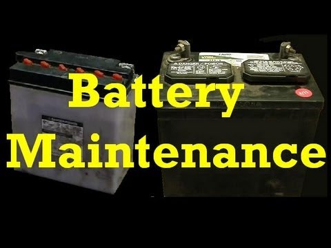 Battery Maintenance ::: Adding Water to Cells and Charging