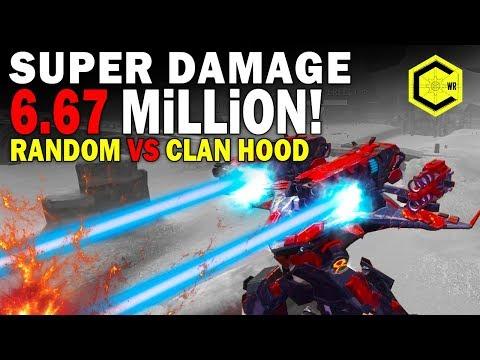 МЕСТЬ. Super Damage 6.7 Mln! REVENGE! War Robots Рандом мстит и гнет Клан!