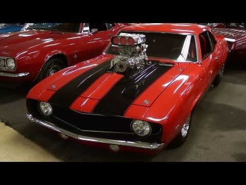 Supercharged 1969 Camaro Pro Street Muscle Car Youtube