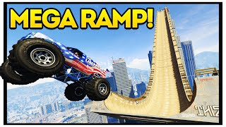 BIGGEST GTA 5 MEGA RAMP!! GTA 5 Mods Showcase : Episode 29