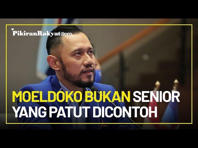 AHY Sebut Moeldoko Bukan Senior yang Patut Dicontoh & Teladan bagi Para Generasi Muda Indonesia