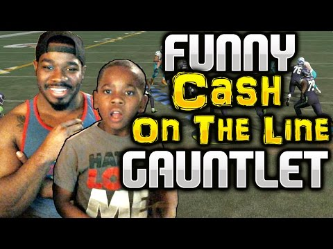 CASH ON THE LINE GAUNTLET WITH MY NEPHEW FUNNY HE'S NERVOUS Madden 17 !! Madden NFL 17 Gameplay