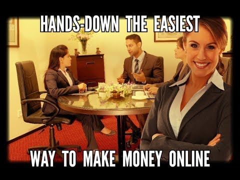 Hands-Down The EASIEST Way To Make Money Online